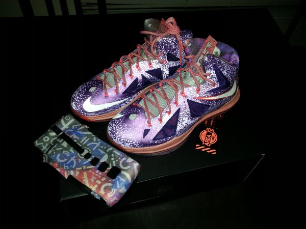lebron X ASG with custom elite socks  - $325 (houston)