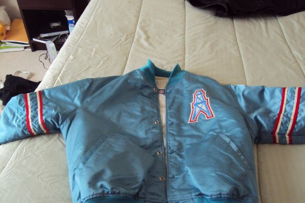 the best attitude 1efe8 0695b Houston oilers jacket for sale