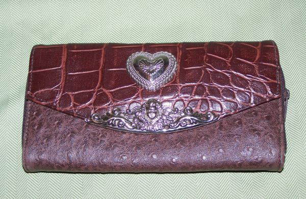 Ladies Wallets Faux Leather Leopard Faux Brighton - $6 (Humble Spring IAH)