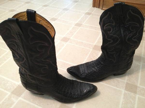 Nocona Western Cowboy Rodeo ALLIGATOR CROCODILE Boots Mens 12 D - $130 (West Houston)
