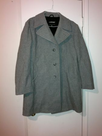 Stratojac Mens Gray Wool Trench Coat Jacket Size 46 - $125 (SE)