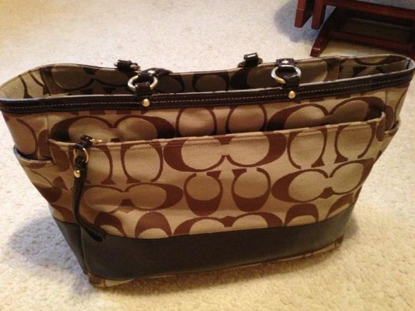 Authentic Coach Diaper Bag  - $200 (West Houston)