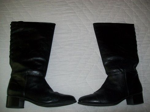 LARGE CALF WOMENS SIZE 12 BLACK DRESS BOOTS - $20 (KATY,  CINCO RANCH)