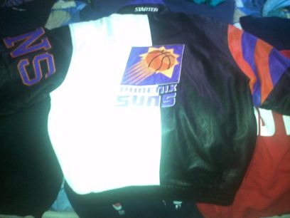 RARE Phoenix Suns Lrg Vintage Leather Jacket - $150 (SW Houston)