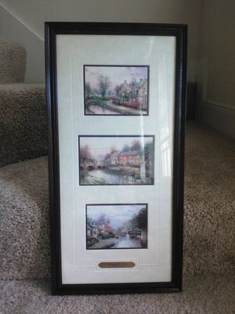 Thomas Kinkade Portfolio of three llight lane framed accent prints - $60 (clear lake)