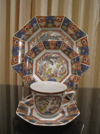 10 PLACE SETTINGS VINTAGE IMARI FOO DOG LENWILE ARDALT JAPANESE CHINA  - $250 (Huntsville)