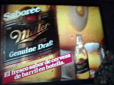 MILLER HIGH LIFE SPANISH SIGN - $75 (HOUSTON)