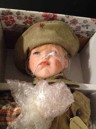 male porcelain doll (cinghiking porcelain doll) - $25 (Katy)