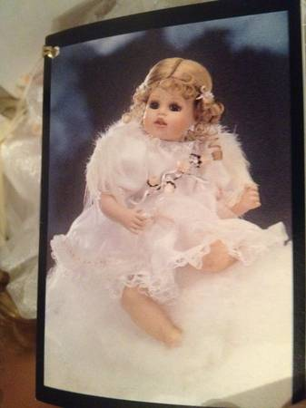 beautiful angel porcelain doll - $25 (Katy)
