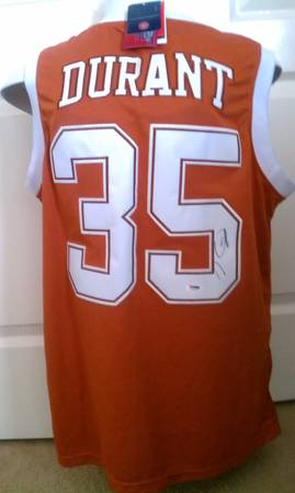 University of Texas Kevin Durant Signed Jersey UT Longhorns Basketball