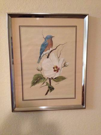 Art Lamay Bluebird signed print - $35 (Missouri City)