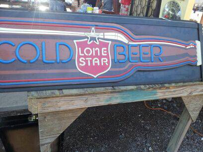 VINTAGE LONE STAR BEER POOL TABLE LIGHT - $250 (SPRINGWOODLANDS)