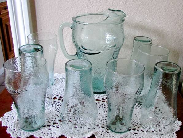 Vintage Coca Cola Pitcher 8 Glasses Great Collectable Set - $35 (Humble)