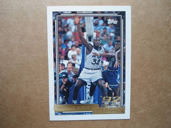 1992-93 SHAQUILLE ONEAL TOPPS GOLD ROOKIE CARD RC RARE MINT - $22 (SEABROOK,TX)