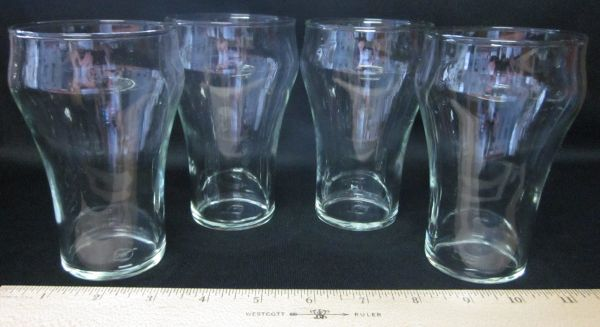 Coca-Cola Glasses, Hand-Blown, Vintage - $15 (249Spring Cypress)