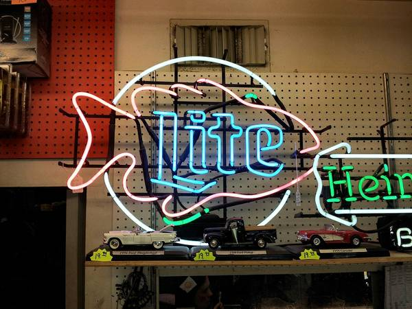 Miller Lite Salmon Fish Neon Beer Sign - $99