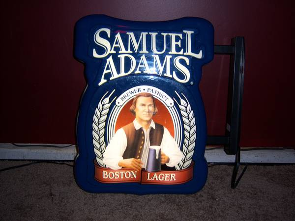 Sam Adams IndorOutdoor Beer Sign, other NeonLEDLighted Beer signs