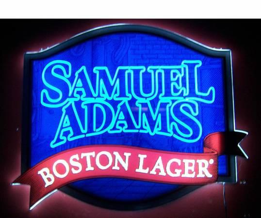 Samuel Adams Boston Lager LED Opti Neon Beer Sign, other lighted signs