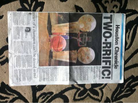 Houston Rockets Two-Rrific Original Houston Chronicle Page (The Woodlands)