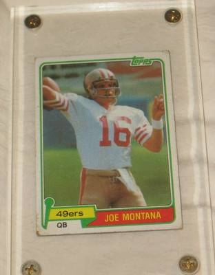 1981 JOE MONTANA TOPPS ROOKIE CARD RC RARE GOOD CONDITION - $65 (THE H,tx)