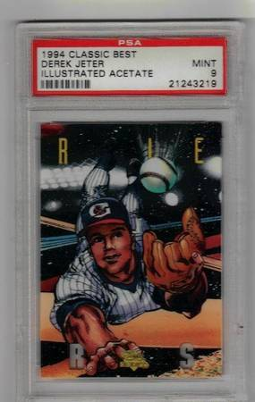 CLASSIC BEST DEREK JETER 1994 ILLUSTRATED GRADED 9 RARE ROOKIE CARD RC - $180 (HOUSTON,TX)