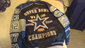 DALLAS COWBOYS SUPERBOWL CHAMPIONSHIP LEATER JACKET - $300 (Victoria)