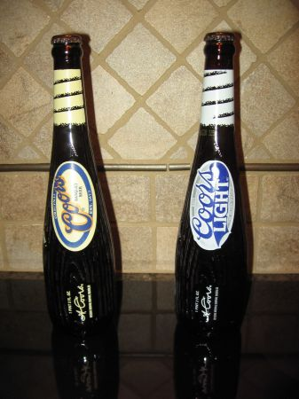 Coors and Coors Light Baseball Bat Bottles - $5 (Sugar Land)