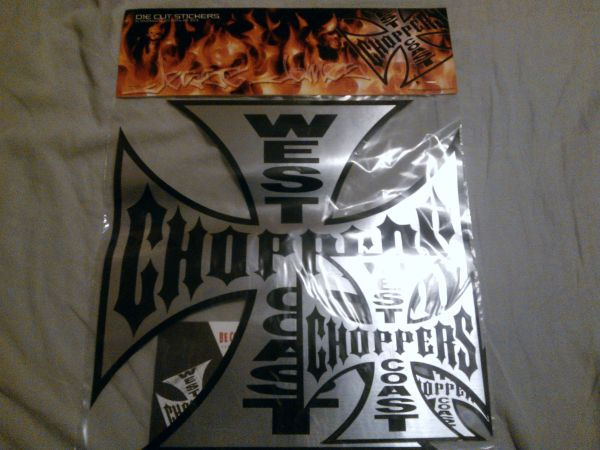 WEST COAST CHOPPERS DECALS - $6 (EVERYWHERE)