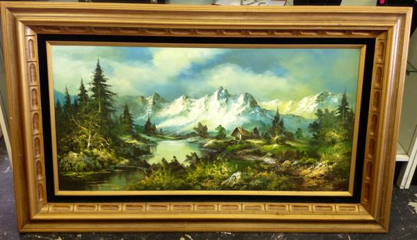 Beautiful G. Whitman Painting with Frame - $95 (Seabrook)