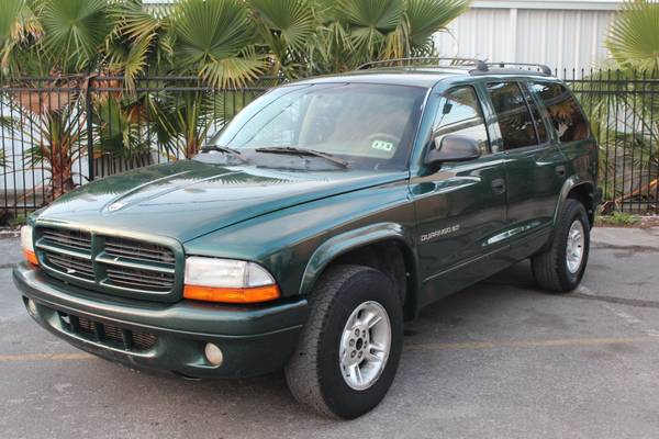2001 Dodge Durango  Green  -   x0024 3950  sw houston