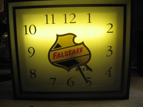 beer bar clock vintage Falstaff advertising - x002450 (Baytown)
