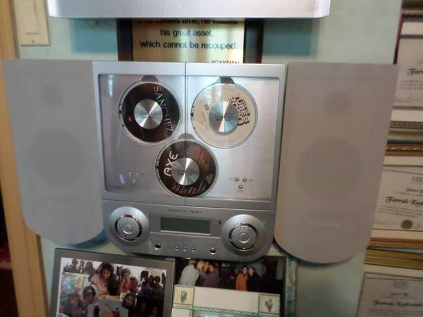 Sharper Image 3 Disc Wall Mount Stereo - $50 (Heights)