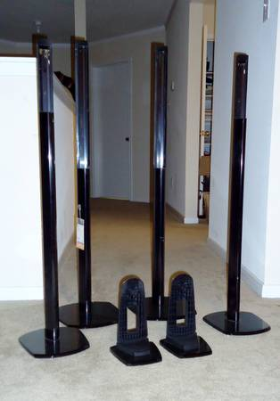 Set of Polk Audio FS20 Floor Stands for Satellite Speaker - $55 (Houston)