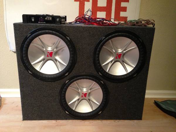 3 15 inch Kicker Subwoofers with Planet Audio Amp and wires - $500 (Pearland Houston Sugarland Rosenberg )