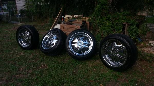 22 rims and tires F5 - $700 (south east )