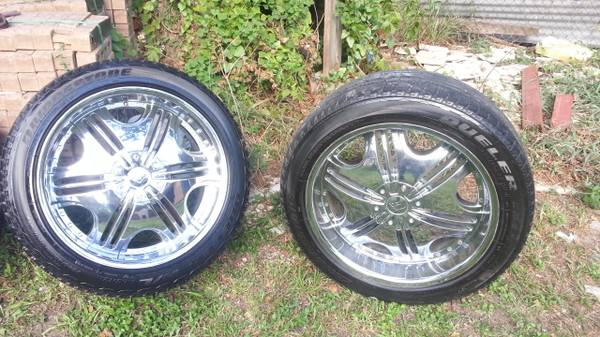 22 F5 rims and tires - $700 (610 nd 45 south )