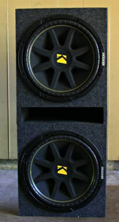 2 X 15 Inch Kicker Comp, Amp, Box, and Wires - $325 (SW - Houston)