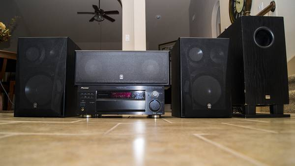 Stereo System Yamaha Speakers, Pioneer Receiver, Onkyo Powered Sub - $300 (katy tx)
