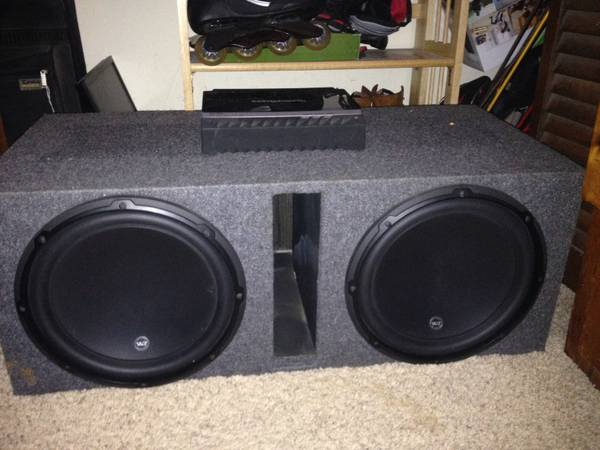 2 JL audio 12w3 Subs with Box and Rockford Amp - x0024800 (conroe tx)