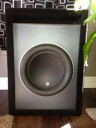 Subwoofer JL audio w7 with custom pro box 12 speakers - $350 (Pasadena)