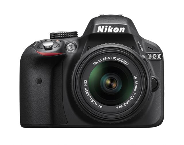 350  NEW Nikon D3300 24 2 MP CMOS Digital SLR wAF-S DX NIKKOR 18-55mm f3 5-5 6G VR II Zoom Lens BLK