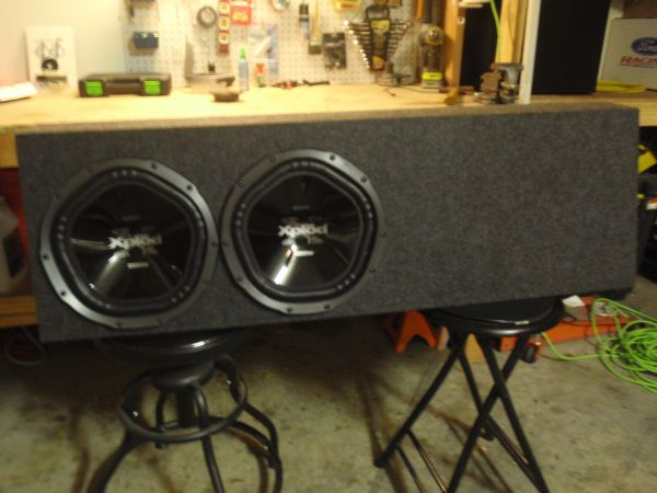 2 - 12 Sony Xplod 1000 Watt Sub Woofers in a ported Truck Box - $150 (Cypress)