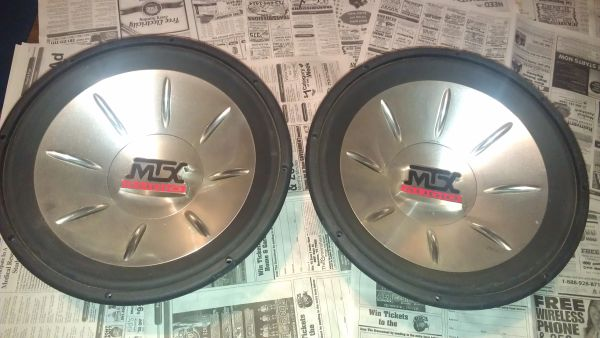 Two 15 MTX Audio sub woffers - $200 (katy)