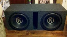 2 12 Memphis PR Subwoofers with Custom Fit Ported Box - $200