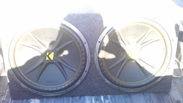 2 15s KICKERS IN A BOX, 1 12in KICKER CVT IN PROBOX. SELL OR TRADE - $120 (houston an everywhere else )