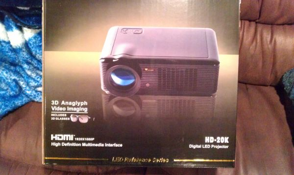 Volare Projector HD-20k and Screen 74in - $2000 (Pearland)