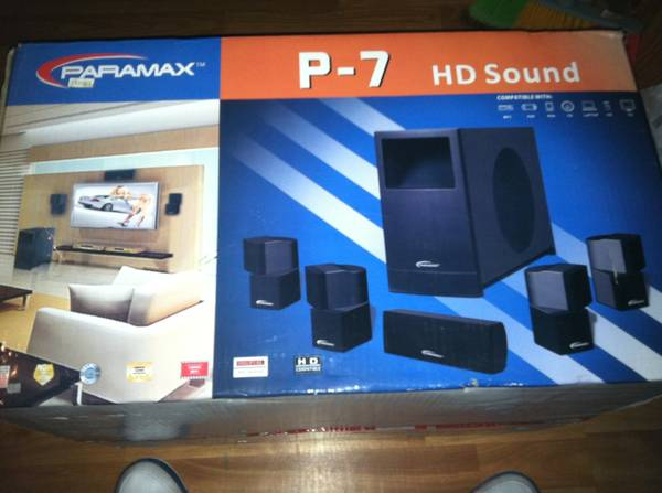 Paramax p-7 hd sound home audio - $180 (Humble)