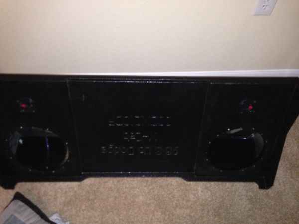 98-01 dodge ram downfired probox for 2 10s - $100 (Tomball)