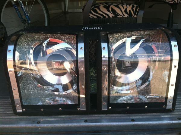 Dual XOBP12D Subwoofer Enclosure Pair 12 1100 Watt Subs Bandpass Box - $150 (KATY)