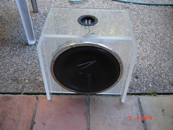 15 inch sub in Plexiglass enclosure - $150 (Cypress, Tx)